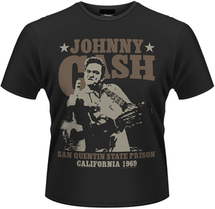 Idee regalo T-Shirt uomo Johnny Cash. San Quentin 69 Plastic Head