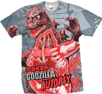 Idee regalo T-Shirt uomo Godzilla. Godzilla Autopsy Plastic Head