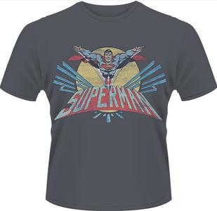 Idee regalo T-Shirt uomo Superman. Flying Logo-DC Originals Plastic Head
