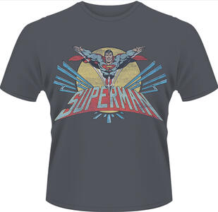 T-Shirt uomo Superman. Flying Logo-DC Originals