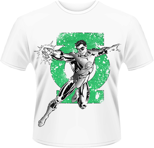 Idee regalo T-Shirt uomo Green Lantern. Punch Plastic Head