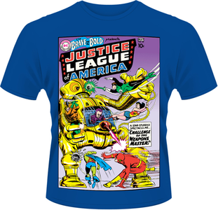 Idee regalo T-Shirt uomo Justice League of America. DC Originals Plastic Head