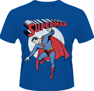 Idee regalo T-Shirt uomo Superman. Vintage Image-DC Originals Plastic Head