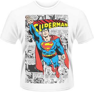 Idee regalo T-Shirt uomo Superman. Comic Strip Plastic Head