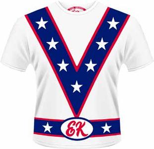 Idee regalo T-Shirt uomo Evel Knievel. Stars Collar Plastic Head