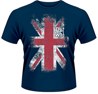 Idee regalo T-Shirt uomo The Who. Union Jack Plastic Head