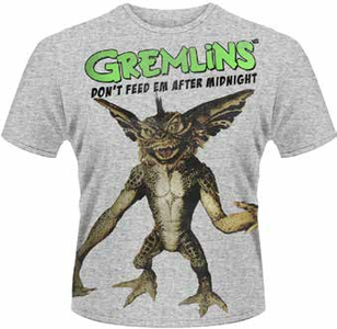 Idee regalo T-Shirt uomo Gremlins. Don't Feed 'em After Midnight Plastic Head