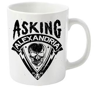 Idee regalo Tazza Asking Alexandria. Skull Shield Plastic Head