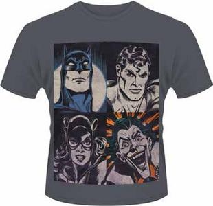 Idee regalo T-Shirt uomo DC Originals. 4 Faces Plastic Head