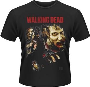 Idee regalo T-Shirt uomo Walking Dead. Zombies Ripped Plastic Head