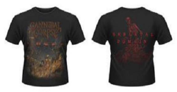 Idee regalo T-Shirt uomo Cannibal Corpse. A Skeletal Domain 2 Plastic Head