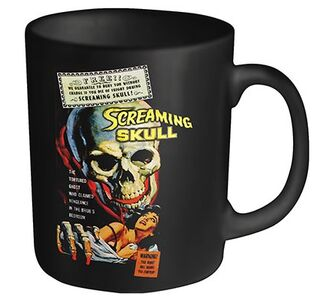 Idee regalo Tazza Plan 9. Screaming Skull. Screaming Skull Plastic Head