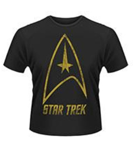 Idee regalo T-Shirt uomo Star Trek. Badge Logo Plastic Head
