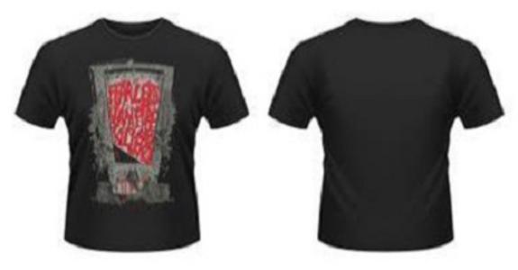 Idee regalo T-Shirt uomo Fearless Vampire Killers. Guillotine Plastic Head