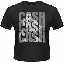 T-Shirt uomo Johnny Cash. Cash Cash Cash