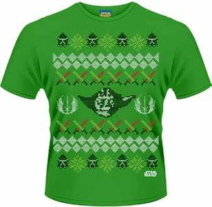 T-Shirt uomo Star Wars. Yoda Fair Isle