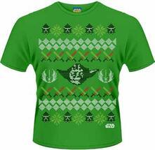 T-Shirt uomo Star Wars. Yoda Fair Isle