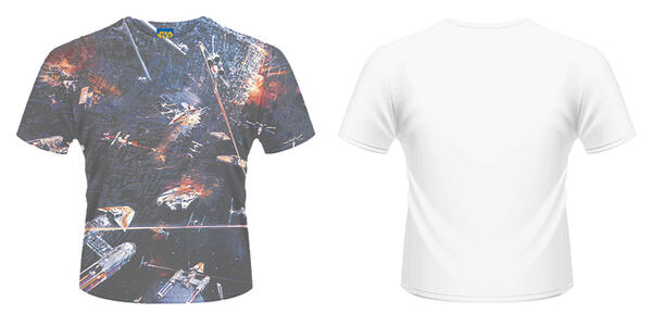 T-Shirt unisex Star Wars. Huge Space Battle
