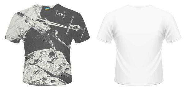 T-Shirt unisex Star Wars. Space Battle