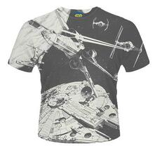 T-Shirt unisex Star Wars. Space Battle