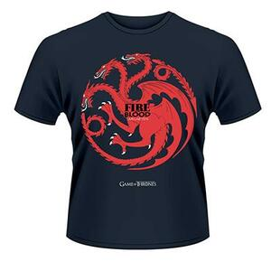 T-Shirt Game of Thrones. Fire and Blood (Trono di Spade)