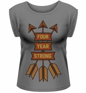 T-Shirt donna Four Year Strong. Arrows Rolled Sleeve