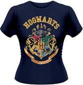 Idee regalo T-Shirt donna Harry Potter. Stemma Hogwarts Plastic Head