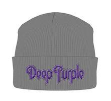 Deep Purple. Logo (Grigio) (Cappello Sci Maglia)