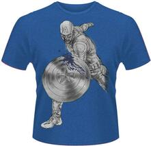 T-shirt unisex Avengers. Age of Ultron. Captain America Splash
