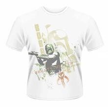 T-Shirt unisex Star Wars. Boba Fett Stencil Dye Sub Print