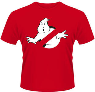 T-Shirt unisex Ghostbusters. Logo Red