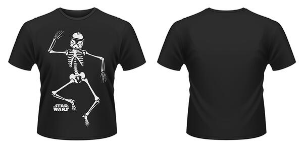 T-Shirt Star Wars. Halloween Clone Skeleton