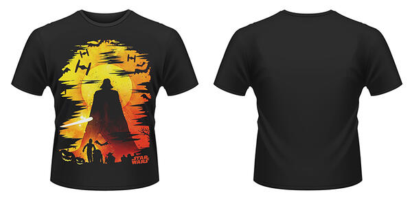 T-Shirt Star Wars. Halloween Vader Silhouette