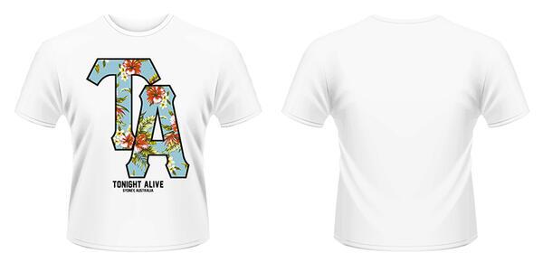 T-Shirt Tonight Alive. Floral Logo