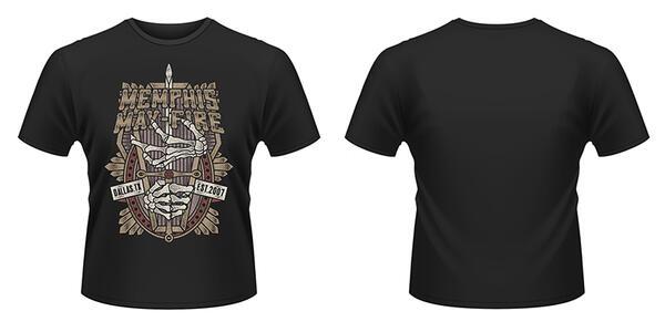 T-Shirt Memphis May Fire. Coffin