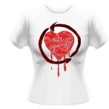 T-Shirt donna Rise Against. Rough Heart