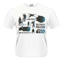 T-Shirt unisex Star Wars The Force Awakens. Blue Heroes Character
