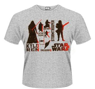 T-Shirt unisex Star Wars The Force Awakens. Red Villains Character