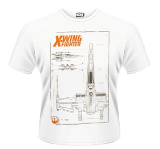T-Shirt unisex Star Wars The Force Awakens. X-Wing Maintenance Manual