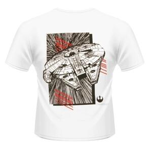 T-Shirt unisex Star Wars The Force Awakens. Millenium Falcon Approaching Rear - 3