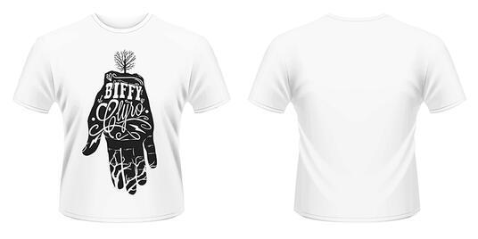 T-Shirt Biffy Clyro. White Hand