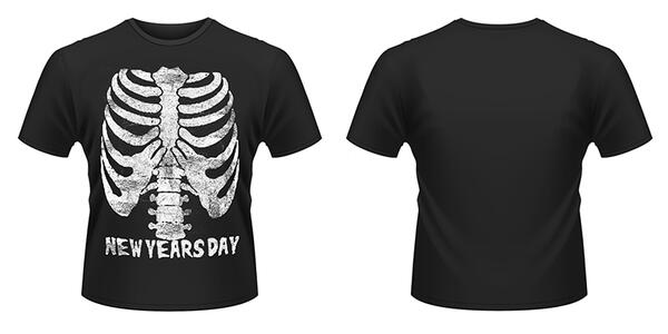 T-Shirt New Years Day. Ribcage