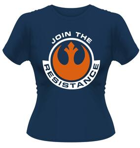 T-Shirt Donna Star Wars. The Force Awakens. Join The Resistance