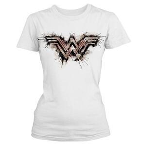 T-Shirt donna Wonder Woman. Splatter Logo