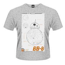 T-Shirt unisex Star Wars The Force Awakens. BB-8 Manual