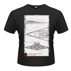 T-Shirt unisex Star Wars The Force Awakens. Star Destroyer Manual