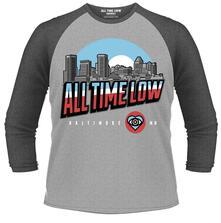 Maglia Manica 3/4 All Time Low. Baltimore
