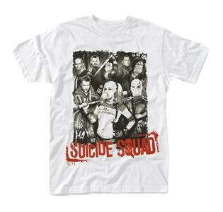 T-Shirt Unisex Suicide Squad. Pose Red Text