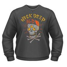 Felpa Unisex Neck Deep. Skulls