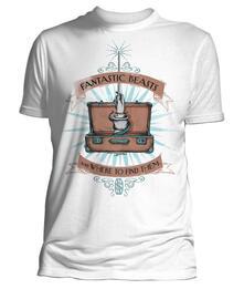 T-Shirt Unisex Fantastic Beasts. Wand Case (White)